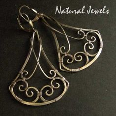 925 Sterling and Fine Silver Earrings Statement by NaturalJewels, €42.50