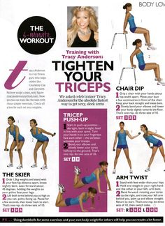 Time: 5 minutes Areas worked: Arms Equipment needed: 2X 1lb weights and achair As you can see from above this workout was presented in two different layouts, I personally find the first page easie...