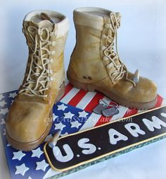 ARMY Boot Cake