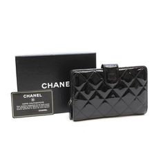 CHANEL Time Less Classic Matelasse Shoulder bags Black Patent Leather A48667