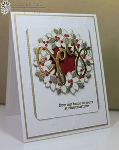 Wondrous Wreath - Stamp With Amy K Stampin' Up! Stampin Up Christmas, Christmas Cards To Make, Christmas Paper, Xmas Cards, Handmade Christmas, Holiday Cards, Christmas Ideas, Christmas Crafts, Christmas 2015