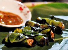 Grilled Buffalo Meat with Troong Leaf (Thit Trau Nuong La Troong)1