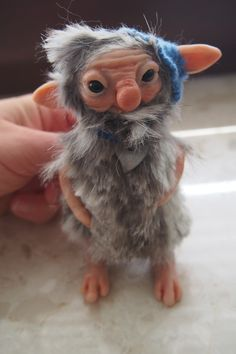 OOAK fantasy art. doll little troll gnome FLO by muyestillo