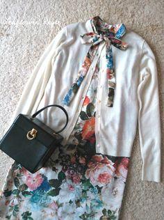 春が待ち遠しいワンピース出来ました | Leaflower LIVING ハンドメイド・ワイヤークラフト教室 毎日着る上品なワンピースやスカートを作ってます