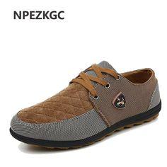 NPEZKGC 2017 NEW Fashion Breathable brand Swede Canvas casual men s shoe  matching flat shoes Men shoes 04447bdba81