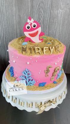 Shark Birthday Cakes, Halloween Birthday Cakes, First Birthday Cakes, 2nd Birthday, Birthday Gifts, Happy Birthday Wishes, Birthday Greetings, Strawberry Vanilla Cake, 21st Cake