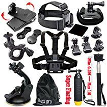 Black Pro Basic Common Outdoor Sports Kit for GoPro Hero 5 Session 4 3 2 1 13 Items Description Buy as a kit and save. These are awesome accessories for GoPro G Gopro Accessories, Photo Accessories, Gopro Action, Gopro Hero 5, Swimming Diving, Amazon Sale, Gopro Camera, Gopro Hd, Sports Camera