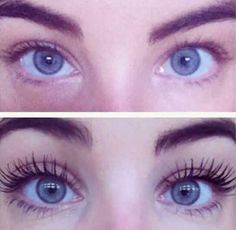 Lengthening and curling mascara, makes lashes stronger. No need for false lashes! Bio Oil Scars, Acne Scars, Curling Mascara, Nu Skin Mascara, Eyeliner, Lush, How To Clean Makeup Brushes, Makeup Tricks, Eye Liner Tricks