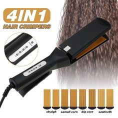 Hair Beauty - 4 in 1 Ceramic Curling Wave Straightener Irons Crimpers | 1003