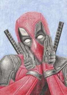 dibujos de deadpool a lapiz para colorear Marvel Drawings, Drawing Superheroes, Deadpool Drawings, Cartoon Drawings, Pencil Drawings, Art Drawings, Drawing Sketches, Deadpool Dessin, Deadpool Mask