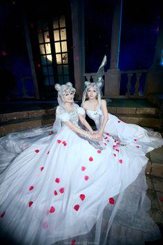 Queen Serenity and Princess Serenity by Likanda.deviantart.com on @deviantART