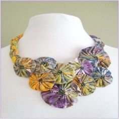 designs for yo yos | Yo-Yo Necklace by Sewfast Design! A simple and fast project that can ...