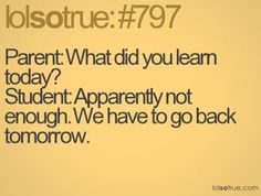 Yup... just teach us what we need to survive then let us go!