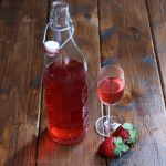 Making your own strawberry infused tequila (or any other alcohol) is very easy and simply requires a little bit of patience, as in a few days of waiting for the flavors of the fruit to infuse the alcohol. The strawberry infused tequila can be used as a base for cocktails, like this strawberry