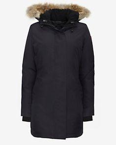 Canada Goose Victoria Fur Trim Parka: Navy