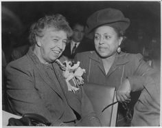 BLACK FIRST Flashback: 63 years ago today, (August 24th)  Edith Spurlock Sampson (pictured on the right with Eleanor Roosevelt), became the first Black US Delegate appointed by Harry S. Truman in 1950. A lifelong achiever, she was a lawyer, judge and first woman to receive her Masters Degree from Loyola University.