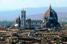 Florence Cathedral, or The Basilica di Santa Maria del Fiore, or Basilica of Saint Mary of the Flower, the main church of Florence, Italy. Santa Maria, Rennaissance Art, Filippo Brunelleschi, Florence Cathedral, Renaissance Architecture, Toscana Italy, Dragon Boat, Water Tower, Heritage Site