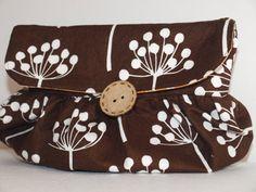 Soft Fabric Clutch purse by littlemissmavis on Etsy, $35.00
