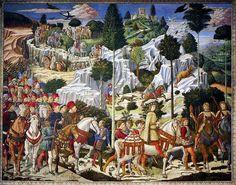 Day 14: Journey of the Magi by Benozzo Gozzoli, 1459-1461  http://en.wikipedia.org/wiki/File:Gozzoli_magi.jpg