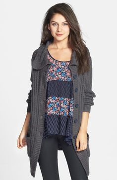 BP. Extra Long Cardigan (Juniors) available at #Nordstrom