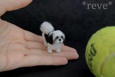 Miniature Shih Tzu Dog * Handmade Sculpture * by ReveMiniatures.deviantart.com on @deviantART