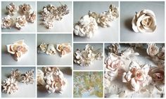 Plaster of Paris Silk flowers