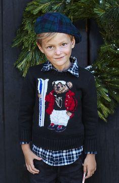 Polo Holiday Kids Bear Sweater