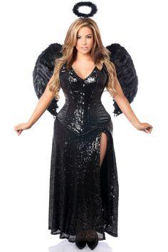 Daisy Corsets Top Drawer Premium Angel of Darkness Corset Costume