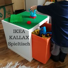 IKEA KALLAX HACK for small LEGO Duplo game table with storage. A chance for more order and less pain The post Ikea Hack for Lego Duplo game table (Kallax) appeared first on Woman Casual. Ikea Kallax Hack, Ikea Raskog, Kura Ikea, Trofast Ikea, Kura Hack, Hack Hack, Ikea Hacks, Ikea Hack Kids, Lego Duplo Games