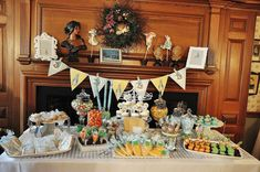 Vintage Peter Rabbit, Peter Rabbit, Beatrix Potter, vintage, Christening, Baptism, candy buffet Baptism Party Ideas | Photo 7 of 22 | Catch My Party