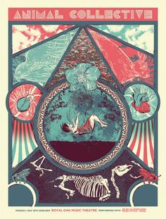 One of the most elegant gig posters I've seen in a while, for Animal Collective.