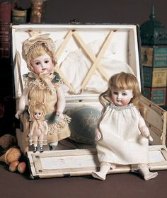 A Whispering of Dolls: 85 German All-Bisque Doll by Kestner with Grey Boots