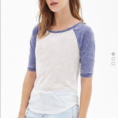 forever 21 baseball tee NWOT never worn this exact shirt. very soft Forever 21 Tops Tees - Short Sleeve