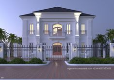 NigerianHousePlans - Your One Stop Building Project Solutions Center beautiful houses in nigeria - House Beautiful Classic House Exterior, Classic House Design, Modern Exterior House Designs, Dream House Exterior, Bungalow Haus Design, Duplex House Design, House Front Design, Duplex House Plans, Bungalow House Plans