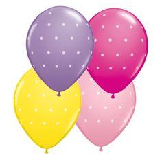 Lot de 6 ballons polka à pois-2.99 euros