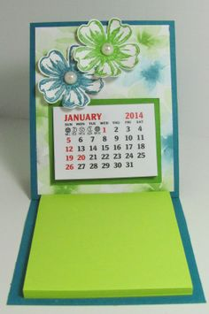 Personally Yours : Post-it Note and Calendar Holder
