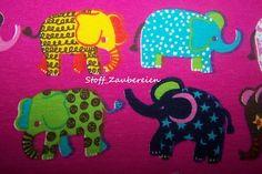 Baumwolljersey Kinder Jersey Elefanten Punkte Sterne Stoff pink J.Swafing Kairo
