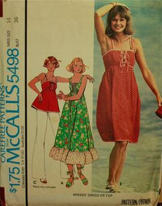 1970s Sundress or Top Possible Maternity by patterntreasury, $13.95