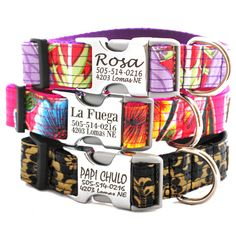 Lazer Engraved Metal Buckle Personalized Dog by shopmimigreen,    Dont have a dog but I'm totally getting this when I do