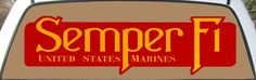 U.S. Marines Semper Fi Rear Window Graphic Mural