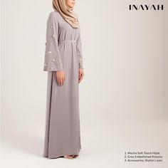 Modest Fashion for Modern Women by Inayah Abaya Fashion, Modest Fashion, Fashion Outfits, Hijab Dress, Dress Skirt, Abaya Pattern, Islamic Clothing, Hijab Pins, Bridesmaid Dresses