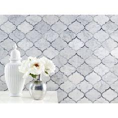 Provence Carrara Waterjet Marble Mosaic - 12 x 12 - 100253400 Marble Mosaic, Carrara Marble, Mosaic Glass, Polished Porcelain Tiles, Marble Showers, Unique Tile, Bathroom Floor Tiles, Wall Tile, Decorative Tile