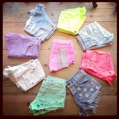 Look at all our bright new denim short must haves from Carmar