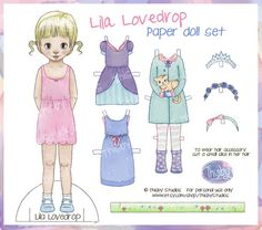Lila Lovedrop Paper Doll Set - Instant Download - PDF File