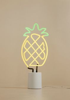 <p>Call upon this neon light whenever your quirky decor could use a new, fun-loving friend! Equipped with a dimmer to customize its levels of brilliance in addition to a pineapple shape and yellow and green hues to match, this lamp will have house guests singing your praises over the vivacious vibe of your space.</p>