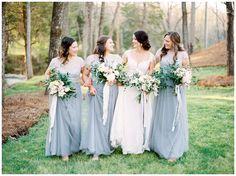 Light blue bridesmaids dresses