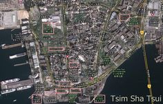Map of Tsim Sha Tsui in Hong Kong: Tsim Sha Tsui Tourist Map
