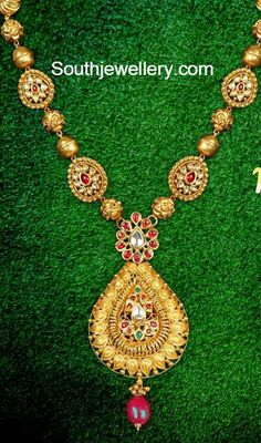 Simple Gold Balls Necklace ~ Latest Jewellery Designs