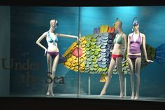 """THE BAY,Montreal,Canada presents:UNDER THE SEA,""""Be careful Samantha....."""",pinned by Ton van der Veer"""