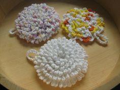 Ultra nubby scrubby tawashi crochet dish cloth pattern